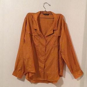 Rustic Orange 'Ashleigh Morgan' Button Down